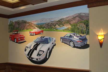 Classic Cars & Hot Rods Mural